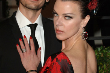 Gabriele Corcos and Debi Mazar
