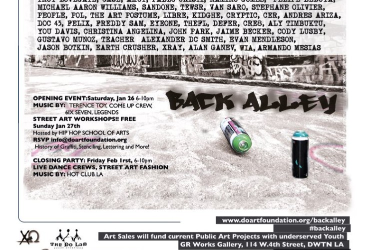 Final flyer for back alley