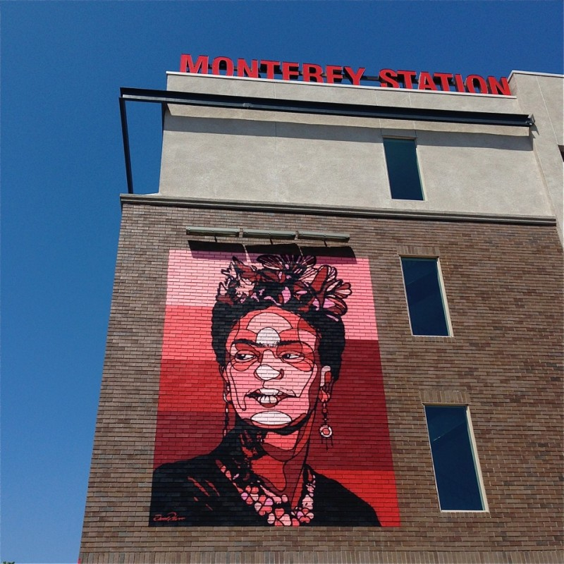 8 new murals by david flores pomona l a taco for Billie holiday mural