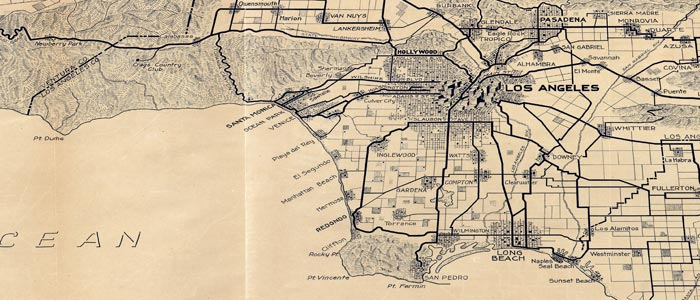 Aaa California Map.Giant Aaa Map Of Los Angeles From 1915 L A Taco