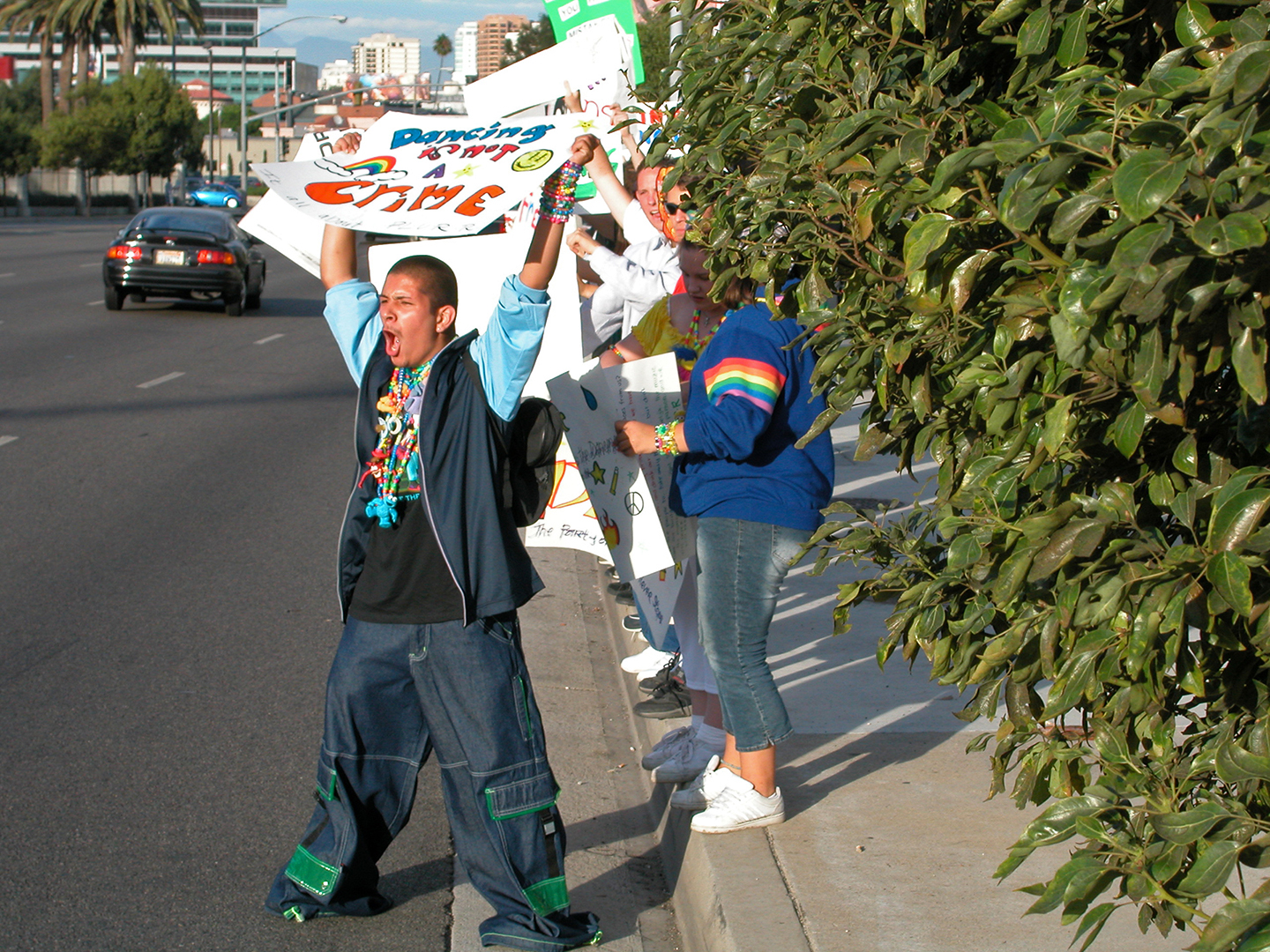Raver protest at the Federal Building