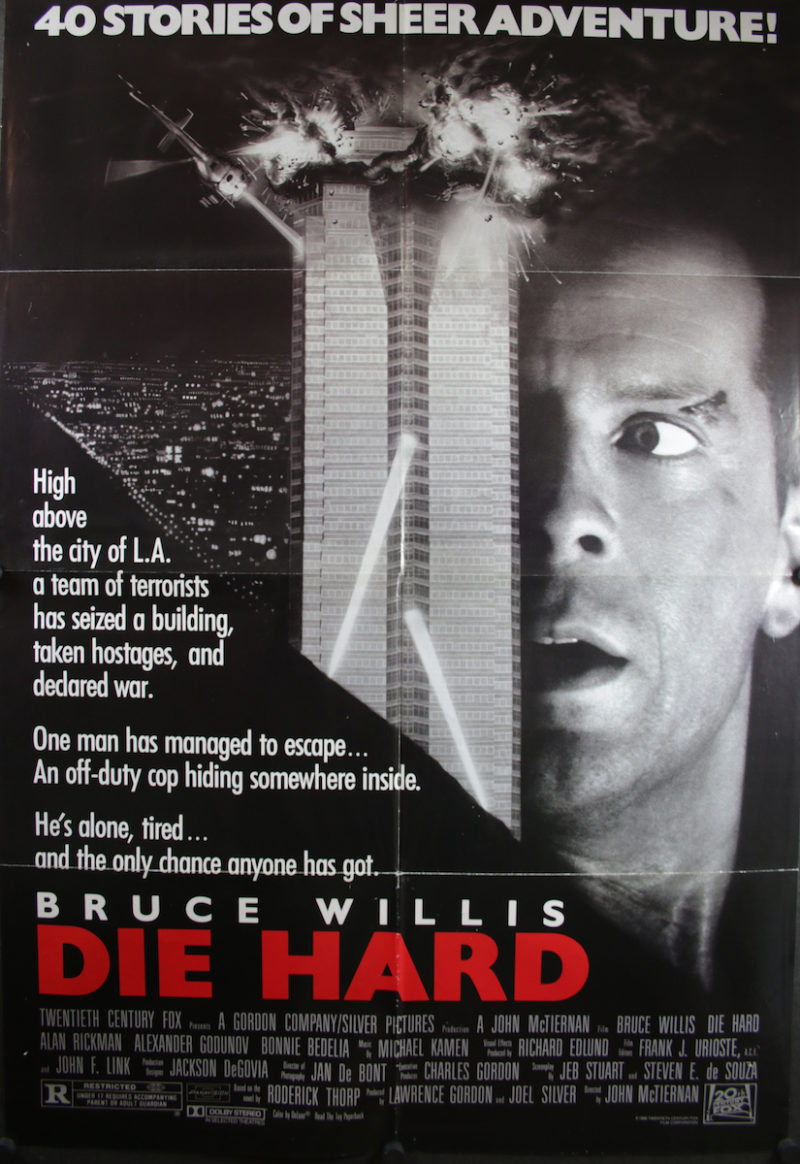 john mcclane bruce willis and nakatomi plaza are forever interconnected in print and filmcourtesy of 20th century fox