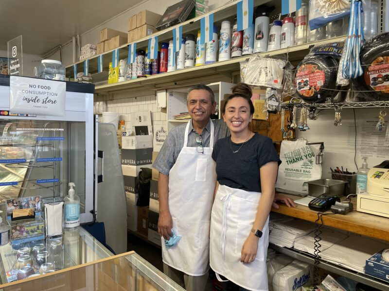 Edward Ahamad and his daughter Melissa Ahamad at Rincon Argentino in Glendale.
