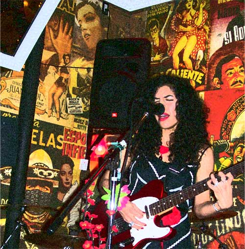 Lysa Flores On Stage at EastsideLuv