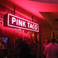 Pink taco sign