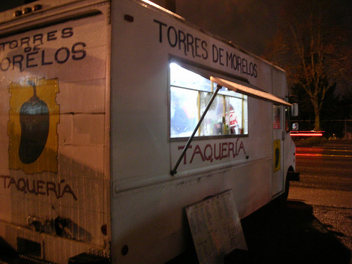 Taco Truck in Portland, Photo by Kevin Crumbs